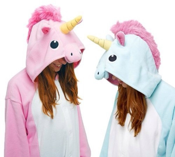 sweater pink unicorn onesies jumpsuit onesie onesided sweater jumper disney fantasy fancy unicorn unicorn pink blue girly girl party time awsome thing carnival carnaval buy friends fashion cool yolo nevermind pink sweater blue sweater unicorn sweater baby blue