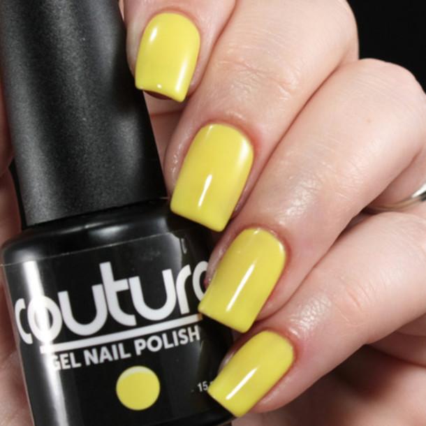 nail polish, yellow gel nail polish, gel nail polish manicure, gel ...