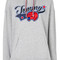 Tommy hilfiger - hoodie with appliqué - women - cotton/polyester - m, grey, cotton/polyester