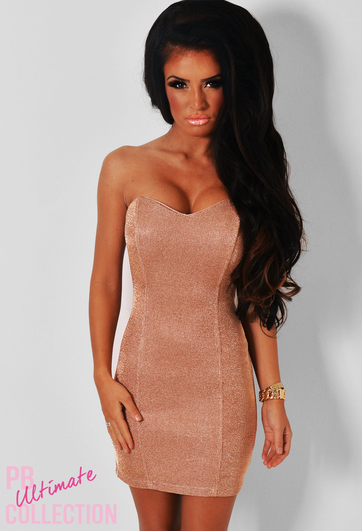 cda21aec Untamed Gold Rose Gold Sweetheart Mini Dress | Pink Boutique