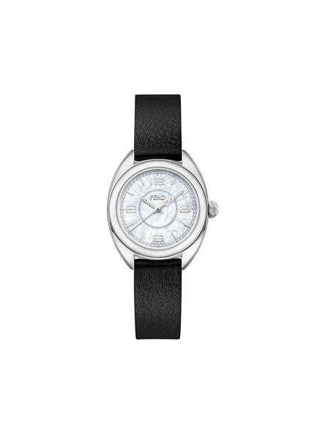 Fendi - Momento Fendi watch - women - Calf Leather/metal - One Size, Black