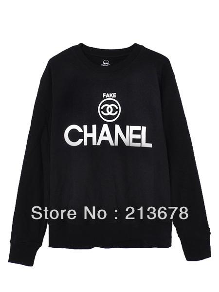 2013 new spoof fake circular logo black sweatshirt(couple style of women and men) fashion hoodies freeshipping