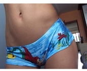 the little mermaid,disney,underwear,knickers,home wear,disney princess,blue dress
