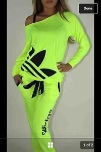 Womens Neon Adidas Tracksuit (Worn Once) | eBay