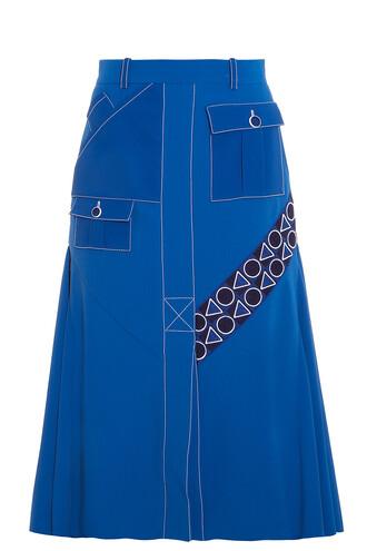 skirt midi skirt midi blue