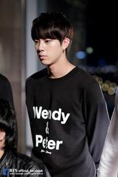 sweater,bts,bangtan boys,kpop,black and white