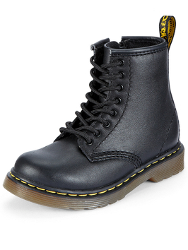 Dr Martens 8175 Lace-Up Zip Girls Leather Boots - Black or Cherry Red | very.co.uk