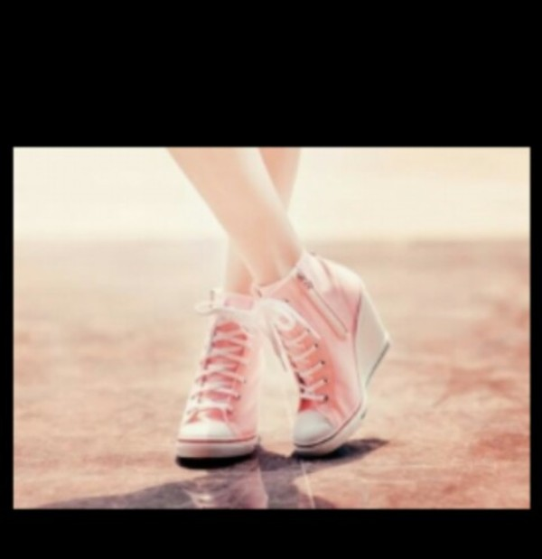 shoes wedges sneakers pink