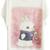 ROMWE | Rabbit Printed Pink Background White T-shirt, The Latest Street Fashion