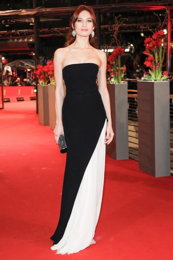 dress red carpet dress gown bustier strapless black