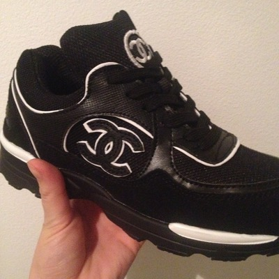 Chanel tennis black sneakers · chanel inspired shop · online store powered by storenvy