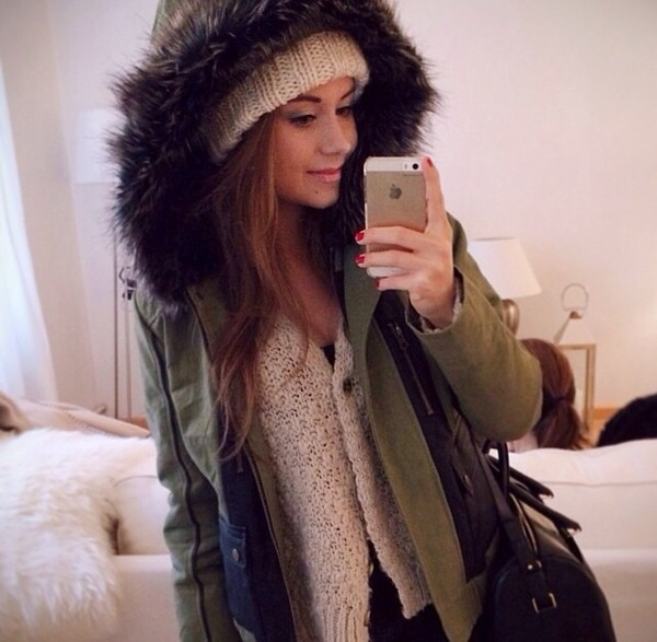 jacket parker winter outfits green