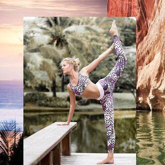 leggings yeah bunny leo leoprint active sportswear yoga