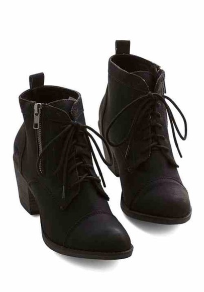 shoes black boots black boots lace up winter boots