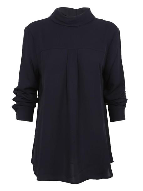 theory shirt blouse navy top
