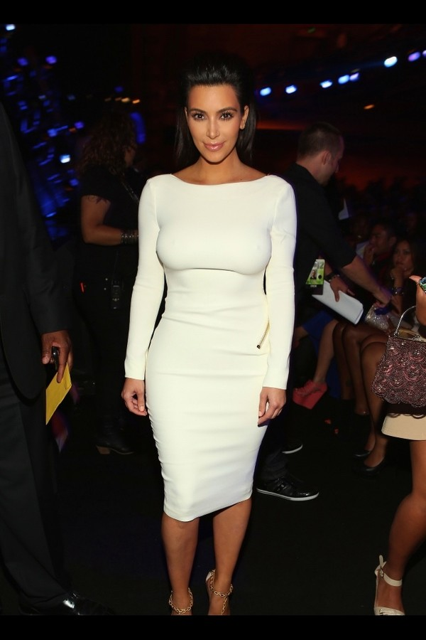 dress kim kardashian white dress beautiful sexy