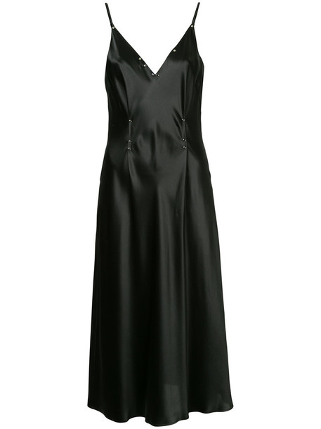 dress embellished dress women embellished black silk