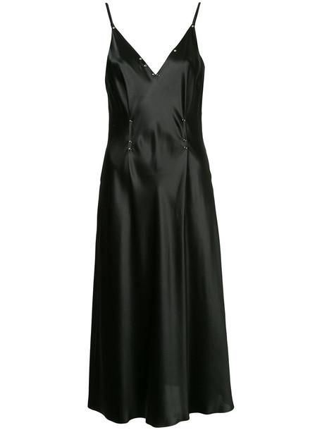 T by Alexander Wang dress embellished dress women embellished black silk