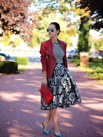 bittersweet colours skirt jacket shoes bag sunglasses t-shirt jewels