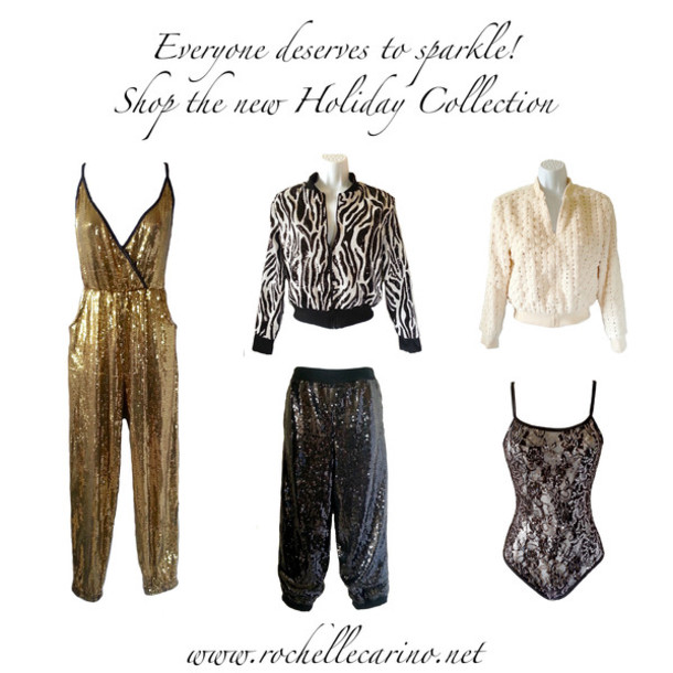 Jumpsuit Rochelle Carino Sparkle Sequin Jumpsuit Gold Jumpsuit