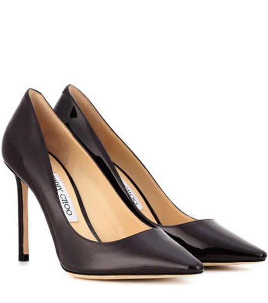 Jimmy Choo 100 pumps leather purple shoes