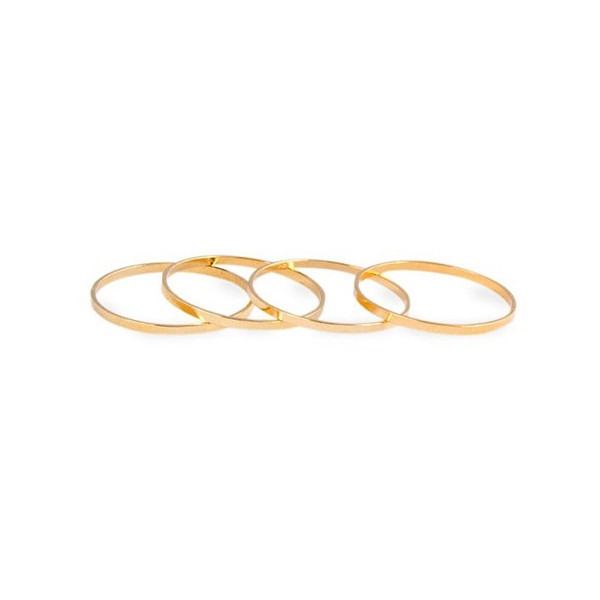 GOLD MIDI RINGS SET – HolyPink