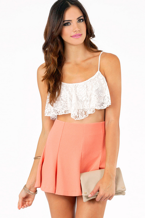 Dane Crochet Crop Top  - Tobi