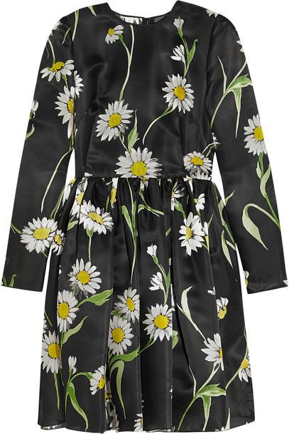 Dolce & Gabbana dress mini dress mini daisy print silk black