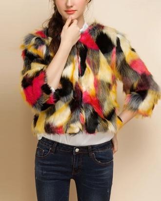coat jacket fur coat faux fur jacket