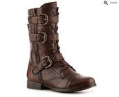 shoes,boots,combat boots,brown boots,grunge,punk,buckle boots,lace up boots,hipster,badass,firefly,adventure,brown leather boots,brown,high,buckles,leather,zip,skirt,strappy,lace-up shoes