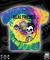 All in merchandise rf pizza tie dye tee