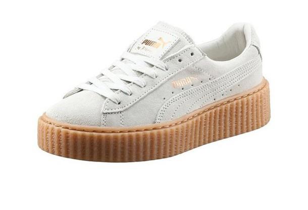 free shipping c393c 2c563 Puma X Rihanna Suede Creeper Sneaker White Womens 7