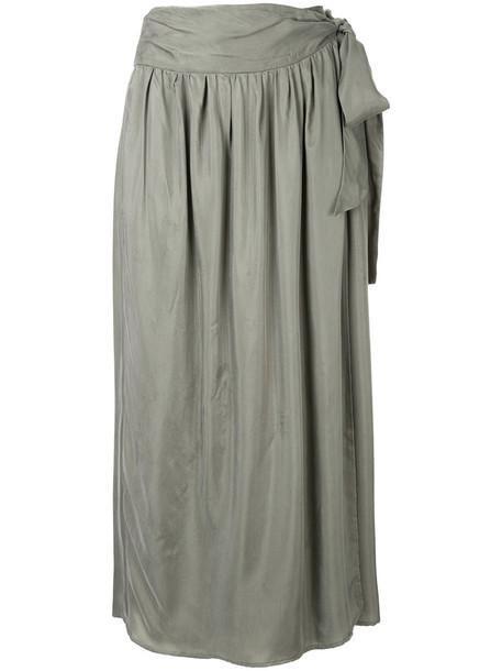 skirt midi skirt women midi green