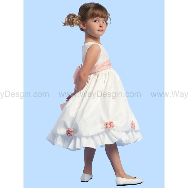 white dress white flower girl dress