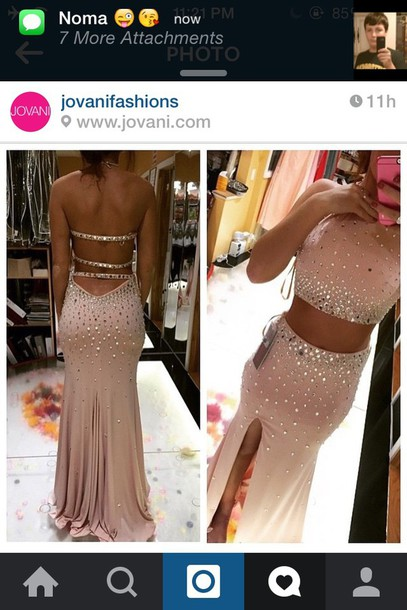 dress prom dress pink dress two piece dress set