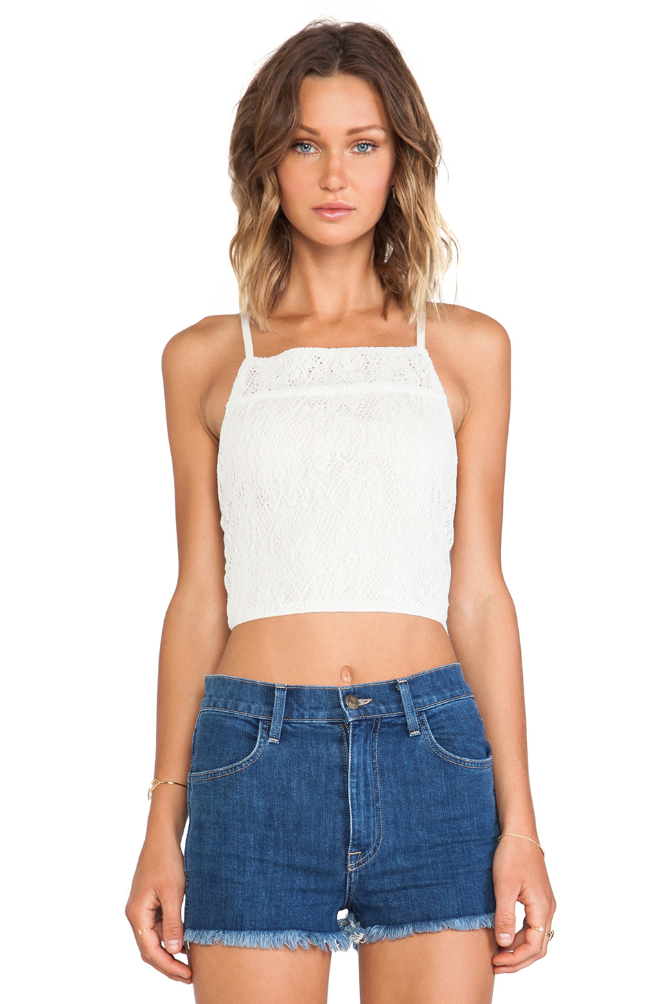 LENNI Killa Tank in Cream from REVOLVEclothing.com