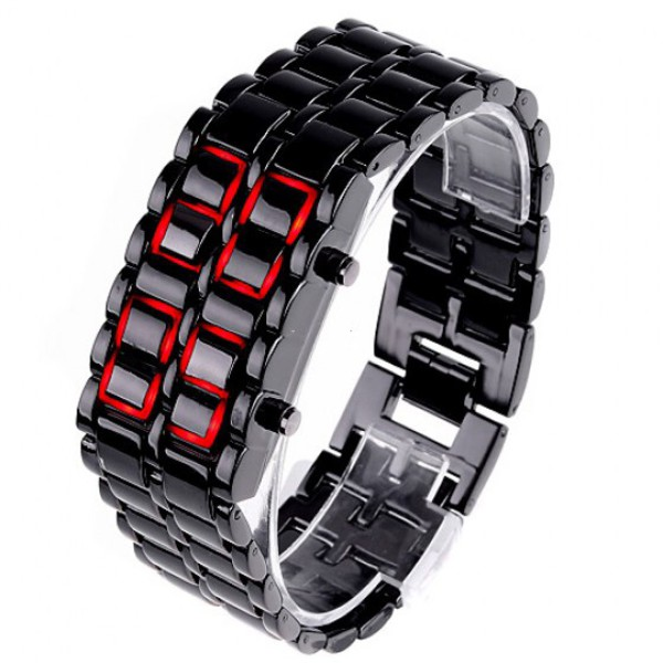 jewels led watch led black red menswear watch watch