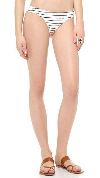 bikini bikini bottoms white black swimwear