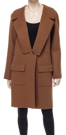 Doubleweave Wool Coat | Designer Coat/Cape Outerwear - Max Studio