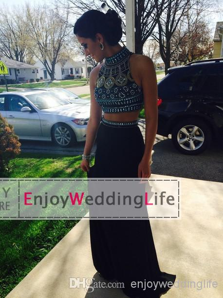 Cheap Prom Dresses - Discount Two Pieces 2014 Sexy New Dark Navy Blue Online with $146.6/Piece | DHgate