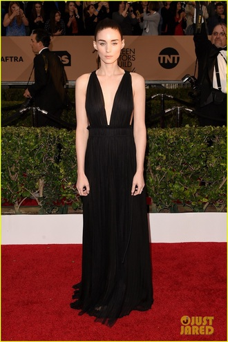 dress prom dress prom gown rooney mara black dress black gown