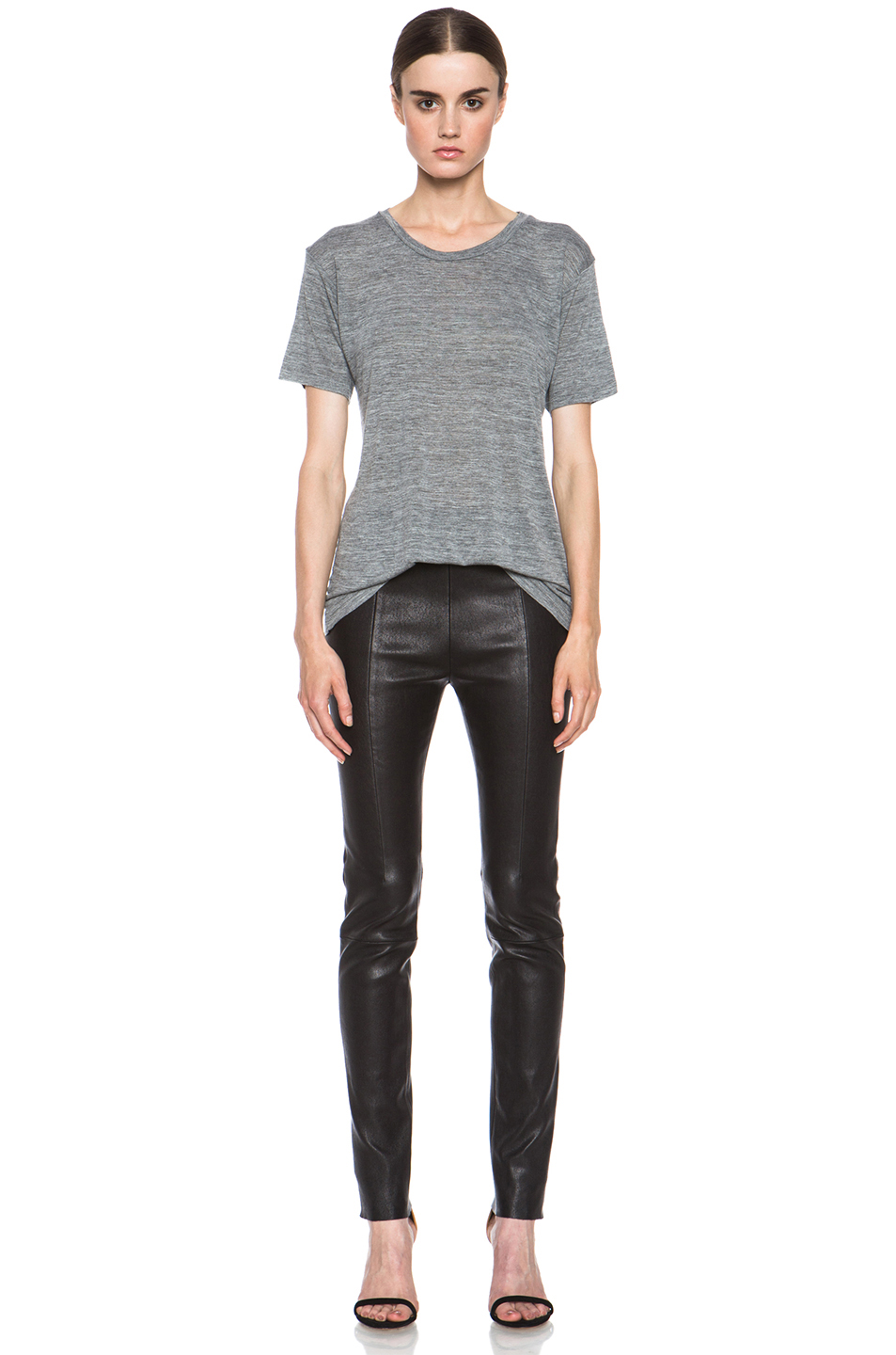 Isabel Marant|Salika Viscose Tee in Grey