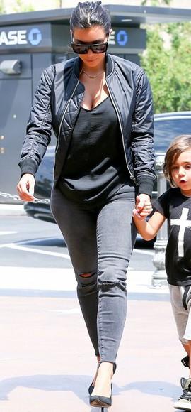 jacket jeans skinny jeans shoes sunglasses kim kardashian pumps