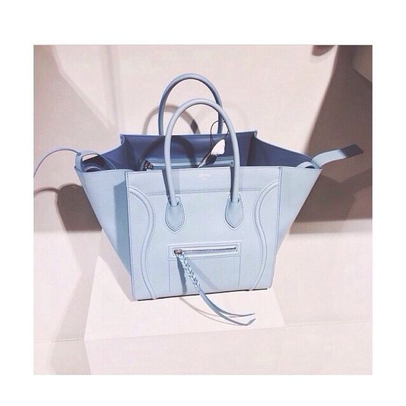 bag baby blue tumblr bags and purses celine fashion blue purse