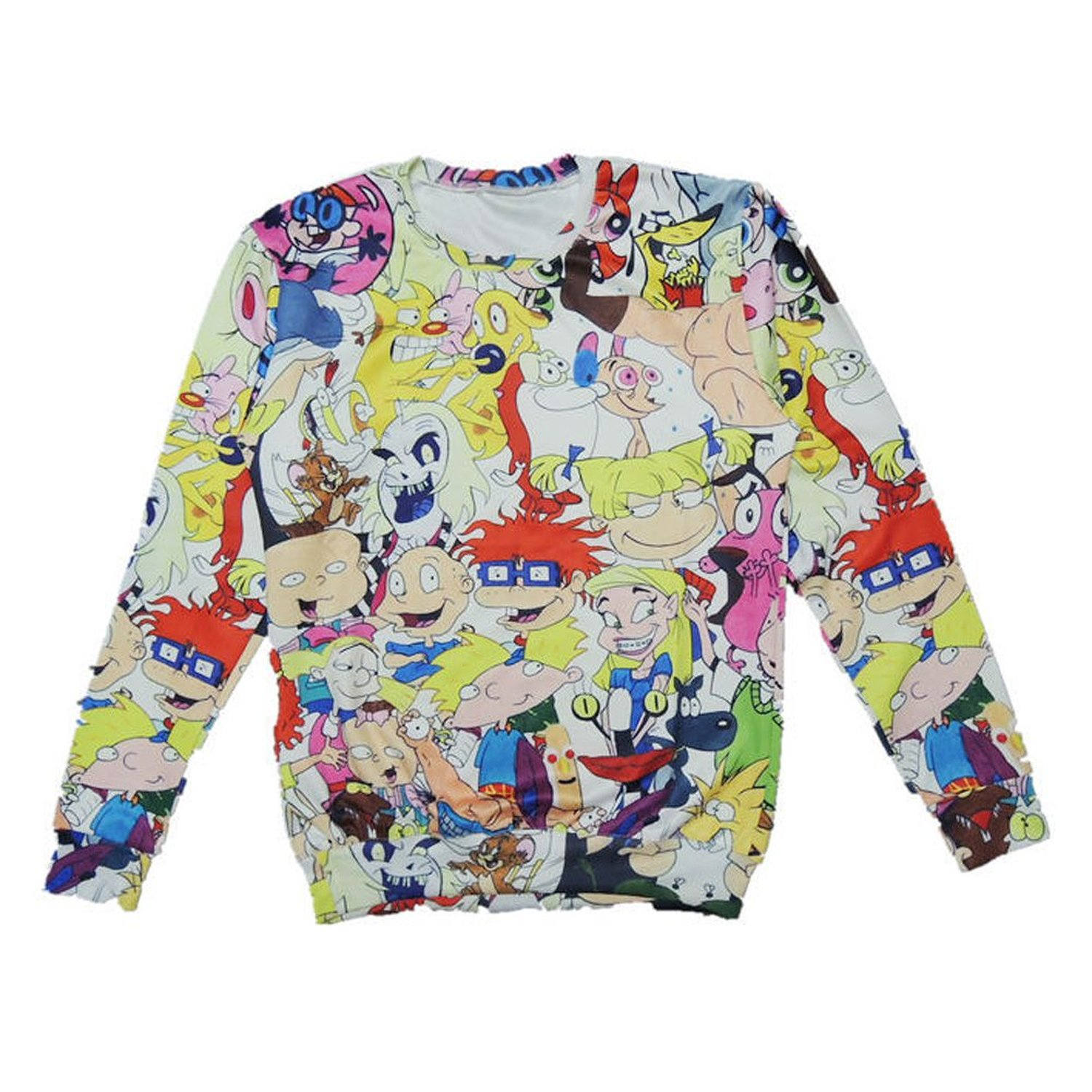 80Store Womens Cute 3D Cartoon Patterns Print Polyester Sweatshirt Sweater (L) at Amazon Women's Clothing store:
