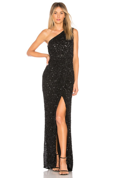 Parker Black gown embellished black dress