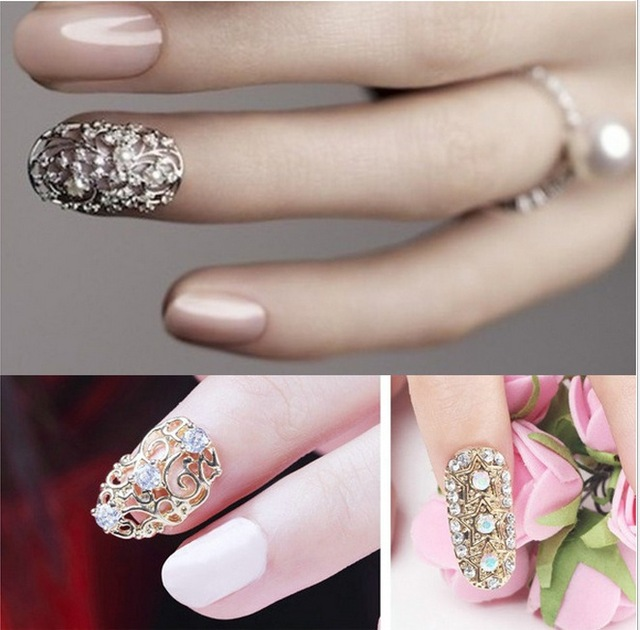 Shop hollow crystal alloy cubic zircon gemstone metallic nails art online shop hollow crystal alloy cubic zircon gemstone metallic nails art adornment decoration accessories diy parts factory prinsesfo Image collections
