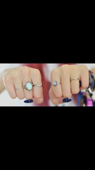 jewels opal ring tiny fingers tumblr silver gold