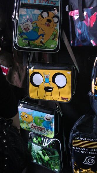 bag adventure time satchel bag messenger bag backpack rucksack jake the dog finn the human
