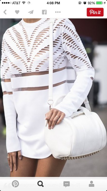 dress shirt white white dress white shirt white outfit all white everything long sleeves cute stylish fancy white purse purse top trendy